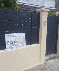 Realisation d'une clôture en pâle béton avec portail 76290 Montivilliers
